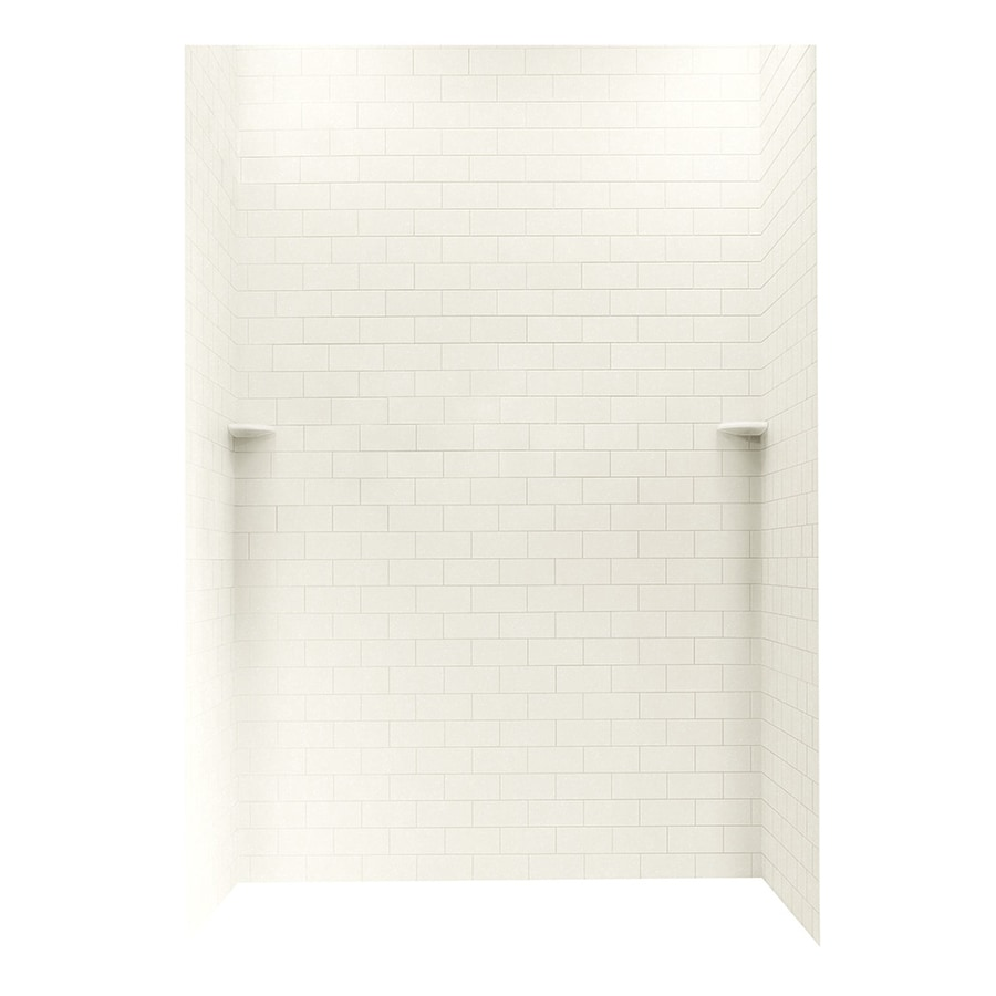 Swanstone Tahiti Ivory Shower Wall Surround Side and Back Wall Kit (Common: 62-in x 36-in; Actual: 96-in x 62-in x 36-in)