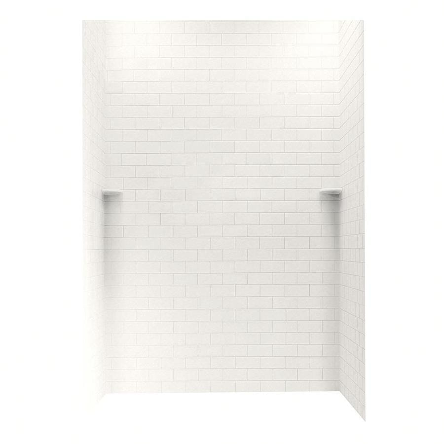 Swanstone Glacier Shower Wall Surround Side and Back Wall Kit (Common: 62-in x 36-in; Actual: 96-in x 62-in x 36-in)
