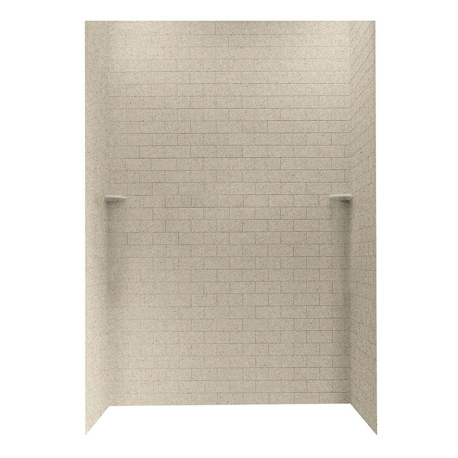shop swanstone prairie shower wall surround side and back