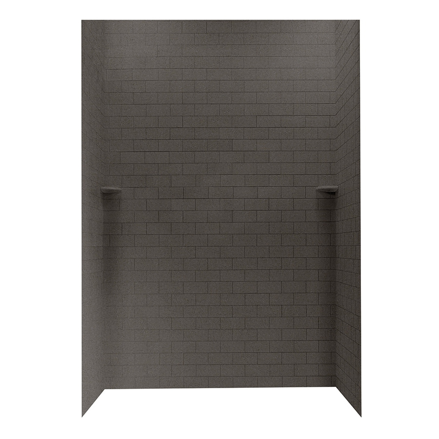 Swanstone Canyon Shower Wall Surround Side and Back Walls (Common: 62-in x 36-in; Actual: 96-in x 62-in x 36-in)