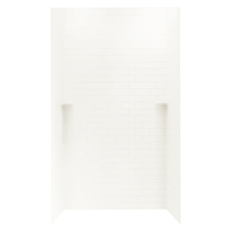 Swanstone Bisque Shower Wall Surround Side And Back Wall Kit (Common: 48-in x 36-in; Actual: 96-in x 48-in x 36-in)