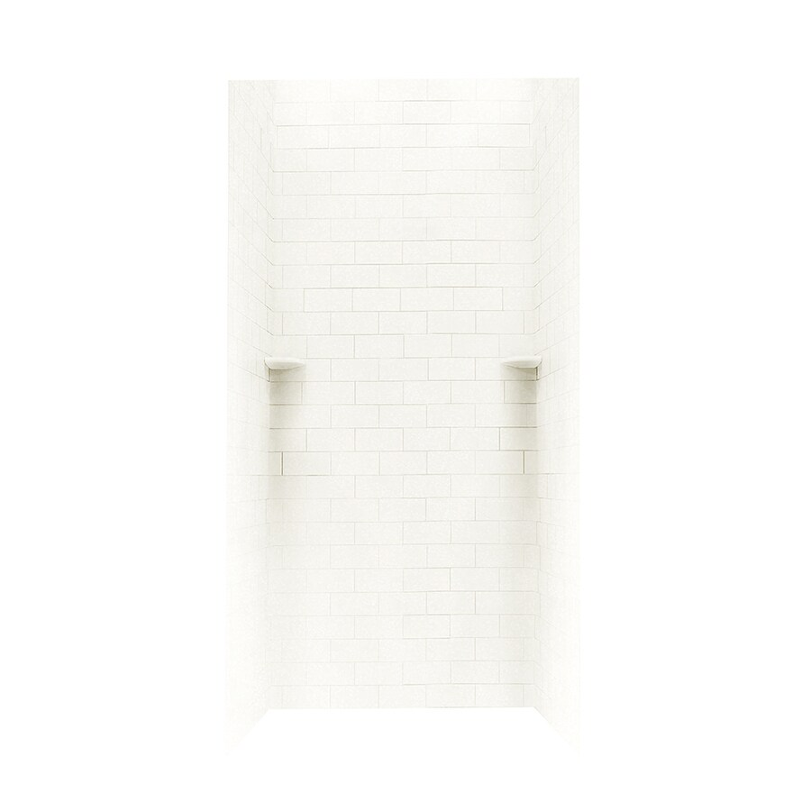 Swanstone Tahiti White Shower Wall Surround Side and Back Walls (Common: 36-in x 36-in; Actual: 96-in x 36-in x 36-in)