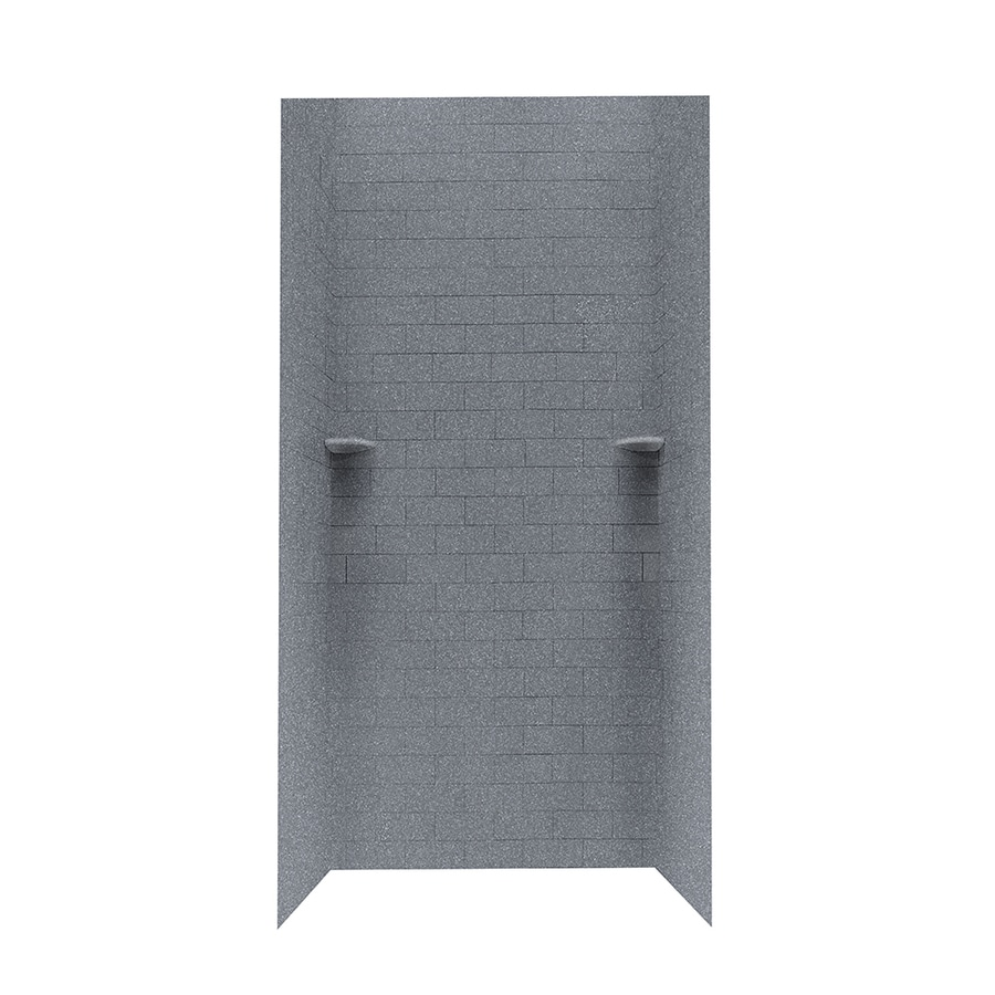 Swanstone Night Sky Shower Wall Surround Side And Back Wall Kit (Common: 36-in x 36-in; Actual: 96-in x 36-in x 36-in)