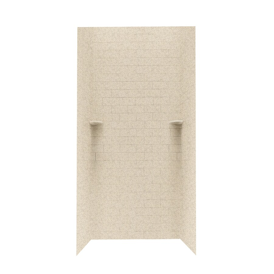 Swanstone Bermuda Sand Shower Wall Surround Side And Back Wall Kit (Common: 36-in x 36-in; Actual: 96-in x 36-in x 36-in)
