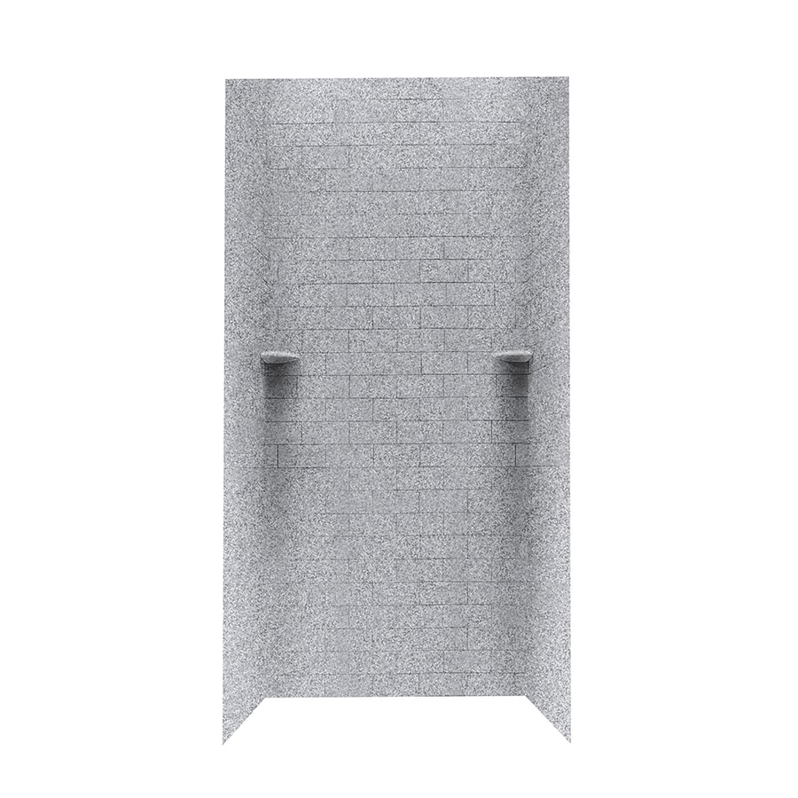 Swanstone Gray Granite Shower Wall Surround Side And Back Wall Kit (Common: 36-in x 36-in; Actual: 96-in x 36-in x 36-in)