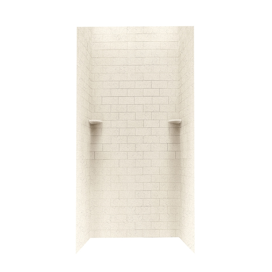 Swanstone Tahiti Desert Shower Wall Surround Side and Back Walls (Common: 36-in x 36-in; Actual: 96-in x 36-in x 36-in)
