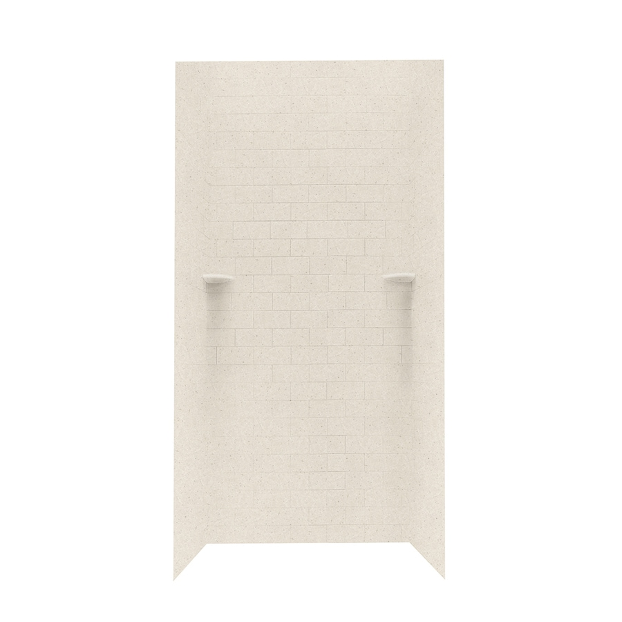 Swanstone Tahiti Sand Shower Wall Surround Side and Back Wall Kit (Common: 36-in x 36-in; Actual: 96-in x 36-in x 36-in)