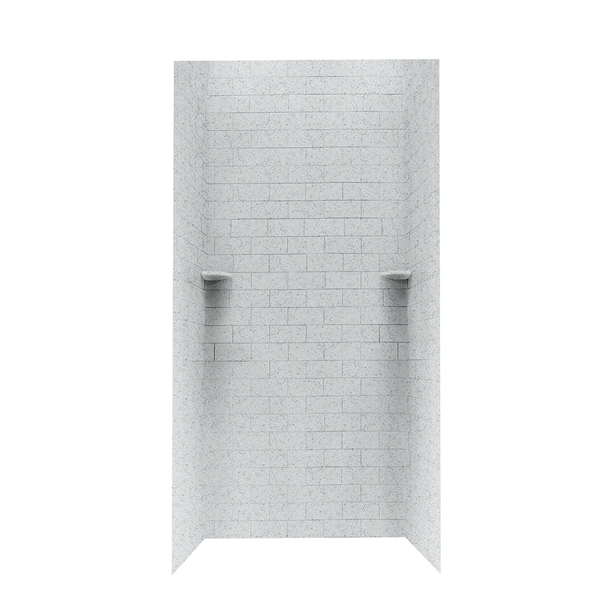 Swanstone Tahiti Gray Shower Wall Surround Side and Back Walls (Common: 36-in x 36-in; Actual: 96-in x 36-in x 36-in)