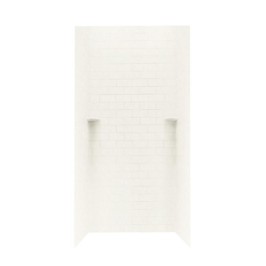 Swanstone Tahiti Ivory Shower Wall Surround Side and Back Wall Kit (Common: 36-in x 36-in; Actual: 96-in x 36-in x 36-in)