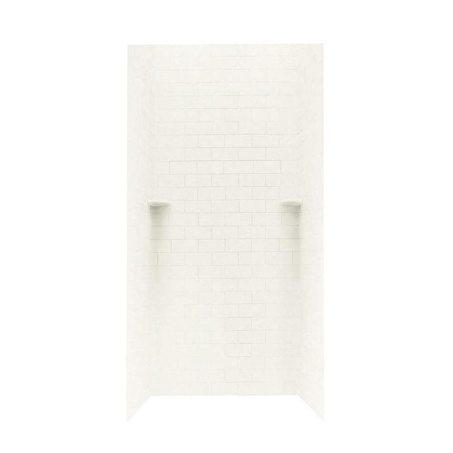 Swanstone Tahiti Ivory Shower Wall Surround Side and Back Walls (Common: 36-in x 36-in; Actual: 96-in x 36-in x 36-in)