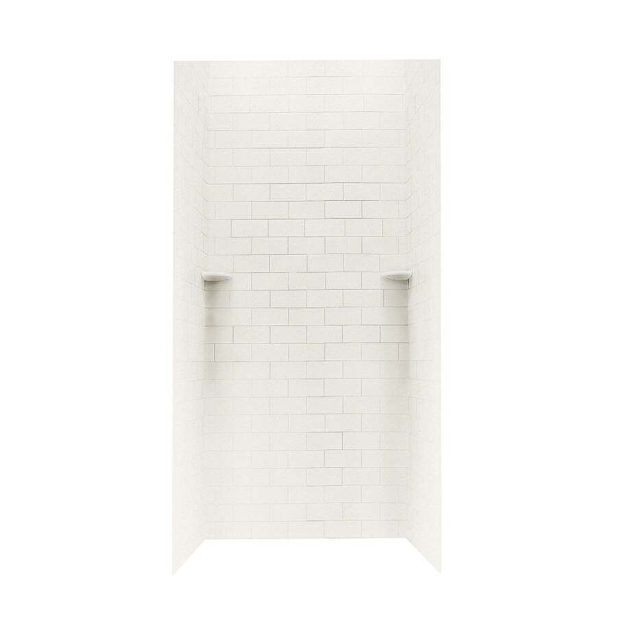 Swanstone Glacier Shower Wall Surround Side And Back Wall Kit (Common: 36-in x 36-in; Actual: 96-in x 36-in x 36-in)
