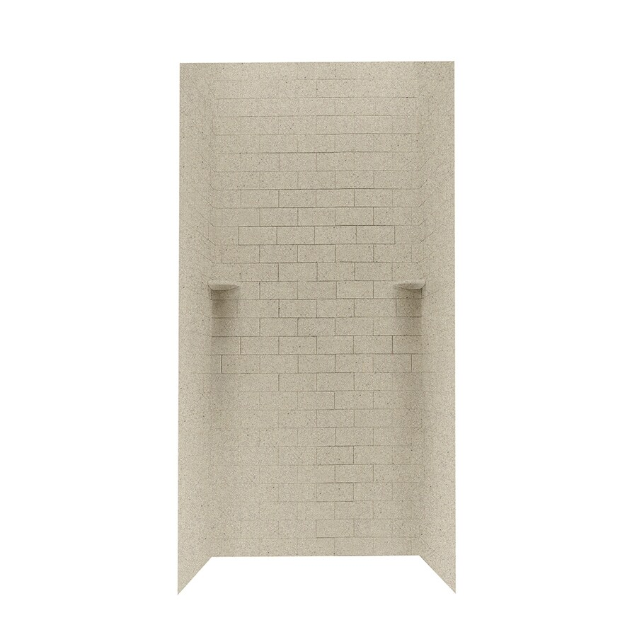Swanstone Prairie Shower Wall Surround Side and Back Walls (Common: 36-in x 36-in; Actual: 96-in x 36-in x 36-in)