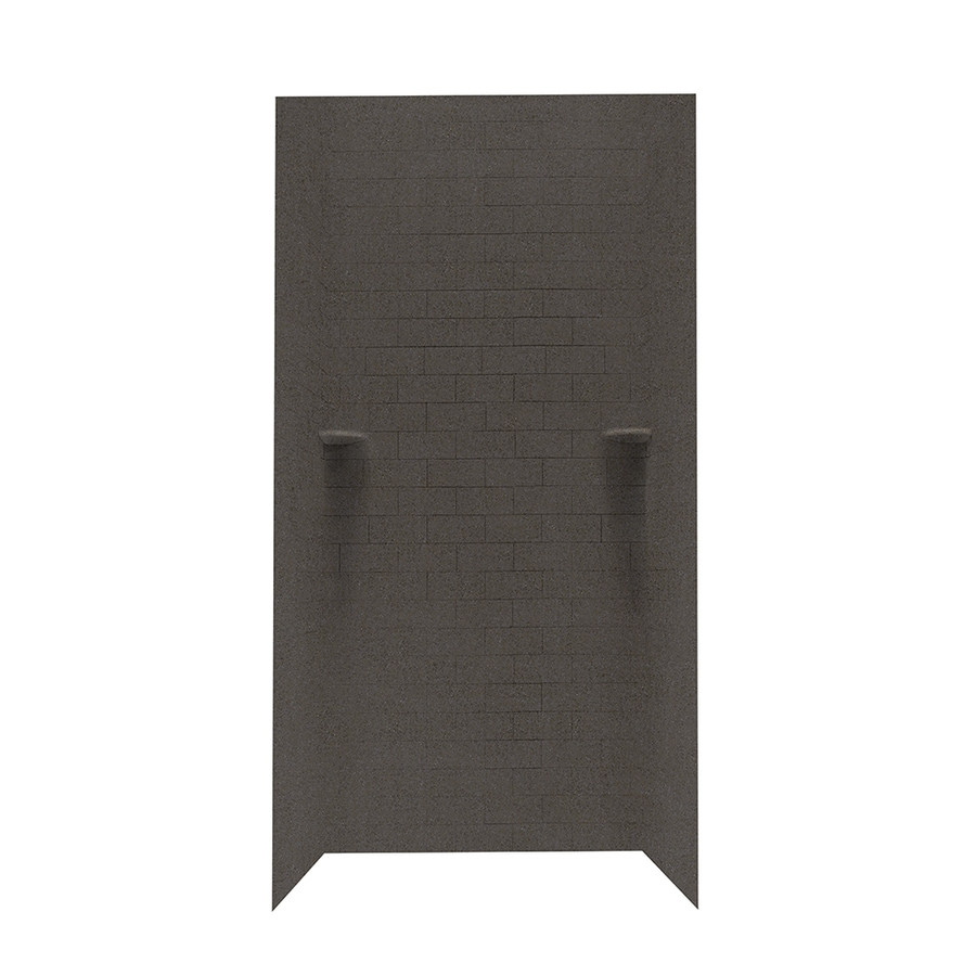 Swanstone Canyon Shower Wall Surround Side and Back Walls (Common: 36-in x 36-in; Actual: 96-in x 36-in x 36-in)