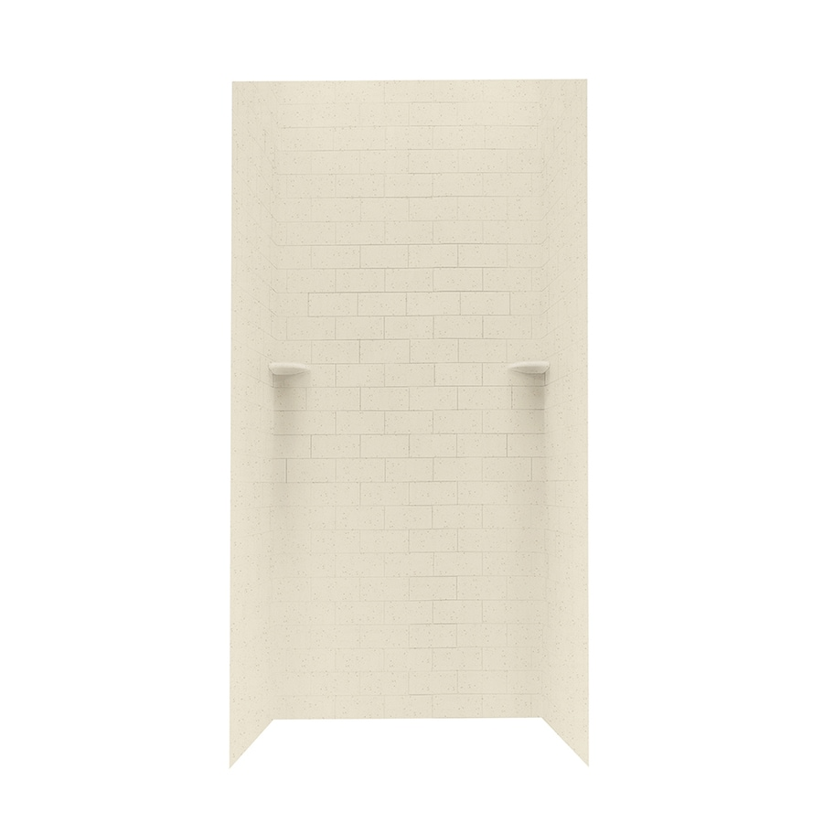 Swanstone Caraway Seed Shower Wall Surround Side and Back Wall Kit (Common: 36-in x 36-in; Actual: 96-in x 36-in x 36-in)