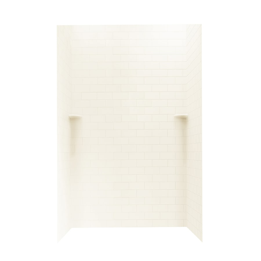 Swanstone White Shower Wall Surround Side And Back Wall Kit (Common: 48-in x 48-in; Actual: 96-in x 48-in x 48-in)