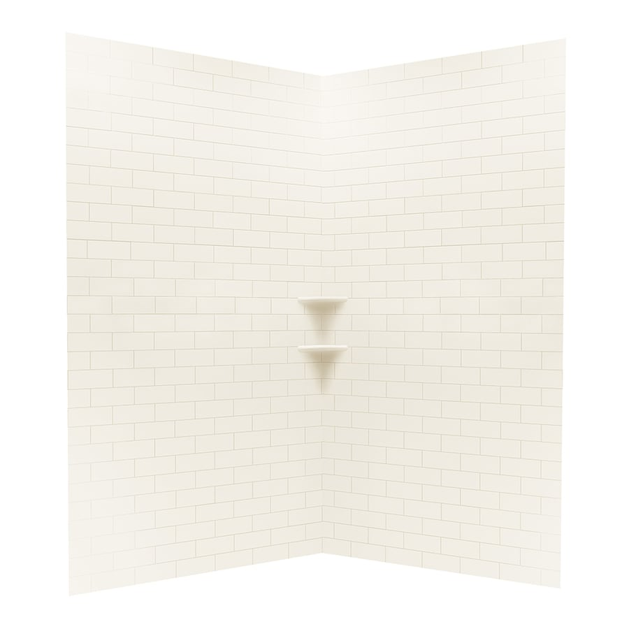 Swanstone White Shower Wall Surround Corner Wall Kit (Common: 48-in x 48-in; Actual: 96-in x 48-in x 48-in)