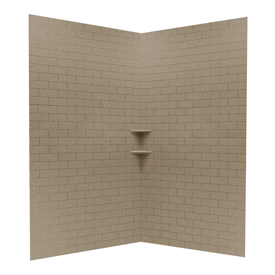 Shop Swanstone Barley Solid Surface Shower Wall Surround Corner ...