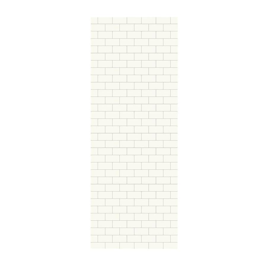 Swanstone White Shower Wall Surround Side Wall Panel (Common: 0.25-in x 36-in; Actual: 96-in x 0.25-in x 36-in)