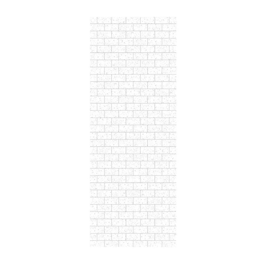 Swanstone Arctic Granite Shower Wall Surround Side Wall Panel (Common: 0.25-in x 36-in; Actual: 96-in x 0.25-in x 36-in)