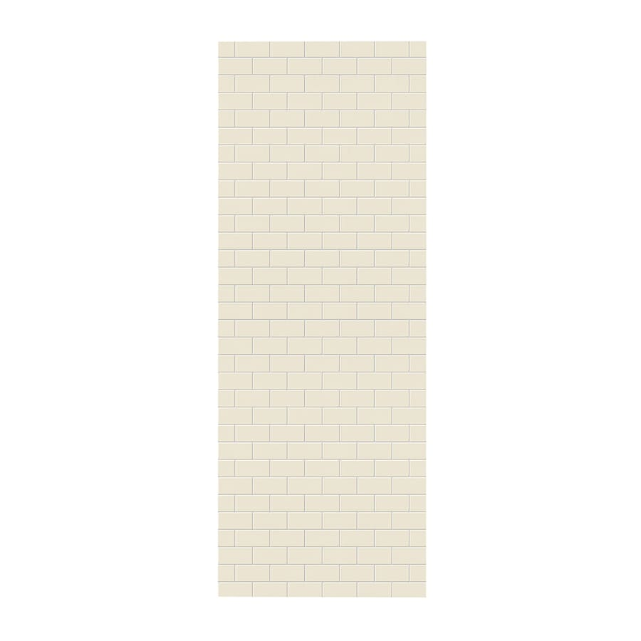 Swanstone Bone Shower Wall Surround Side Wall Panel (Common: 0.25-in x 36-in; Actual: 96-in x 0.25-in x 36-in)