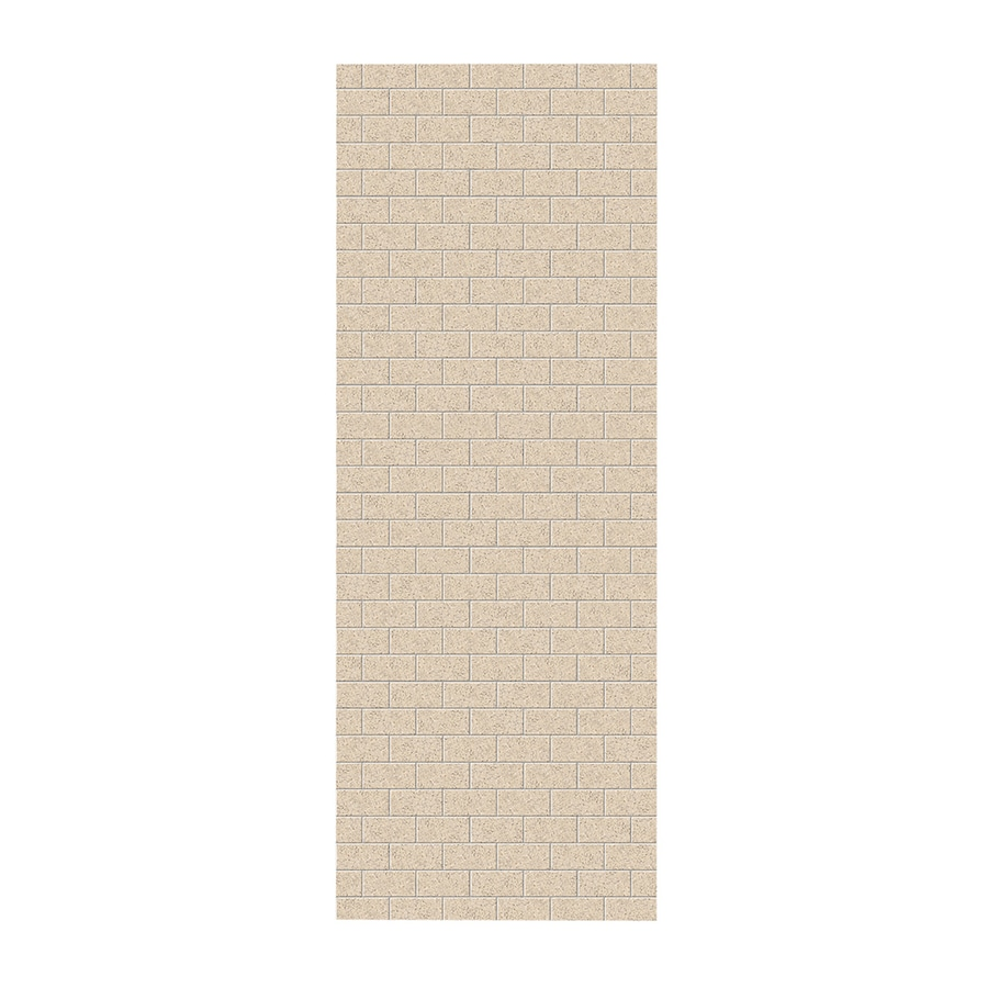 Swanstone Bermuda Sand Shower Wall Surround Side Wall Panel (Common: 0.25-in x 36-in; Actual: 96-in x 0.25-in x 36-in)