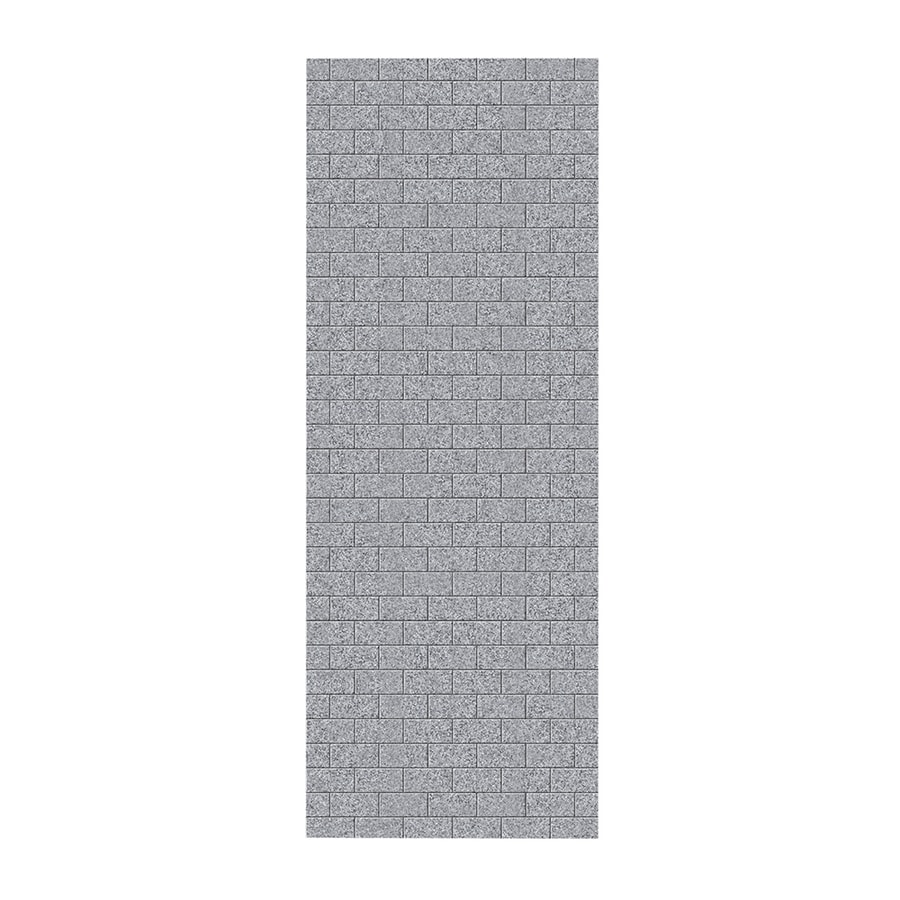 Swanstone Gray Granite Shower Wall Surround Side Wall Panel (Common: 0.25-in x 36-in; Actual: 96-in x 0.25-in x 36-in)