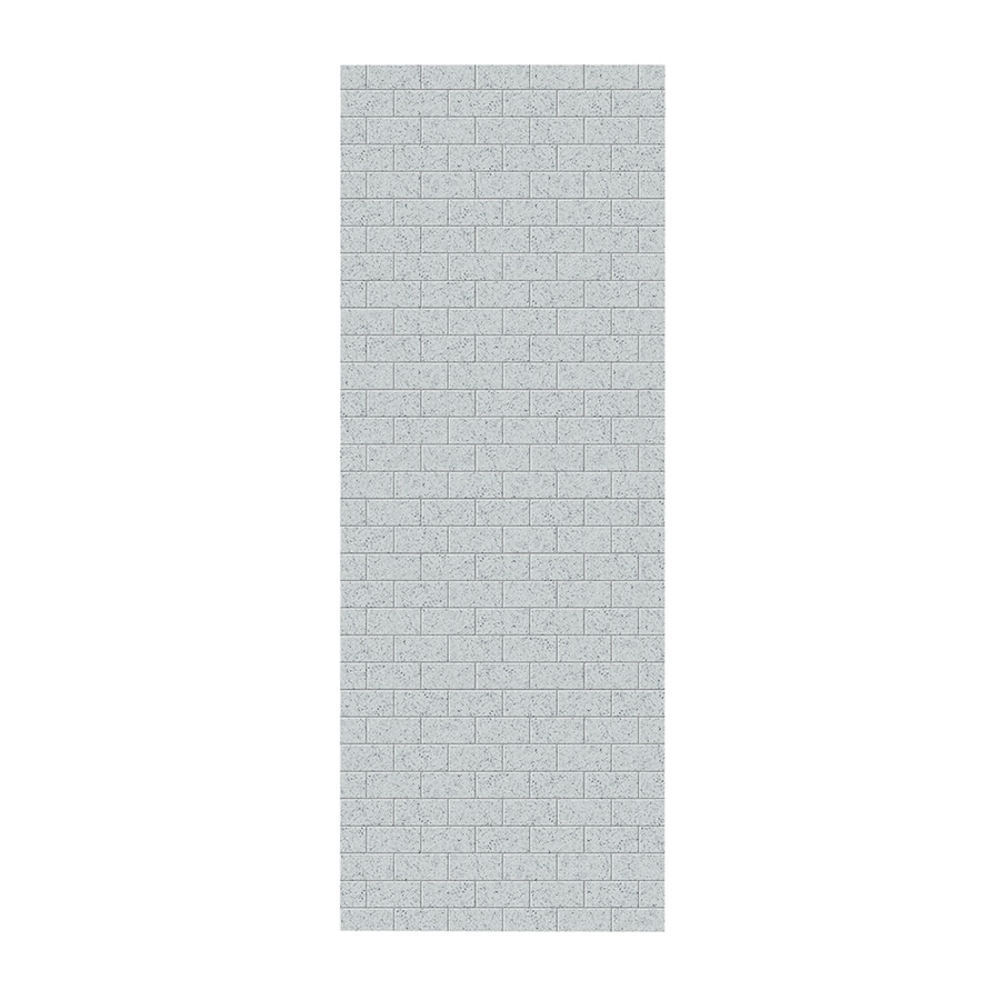 Swanstone Tahiti Gray Shower Wall Surround Side Wall Panel (Common: 0.25-in x 36-in; Actual: 96-in x 0.25-in x 36-in)