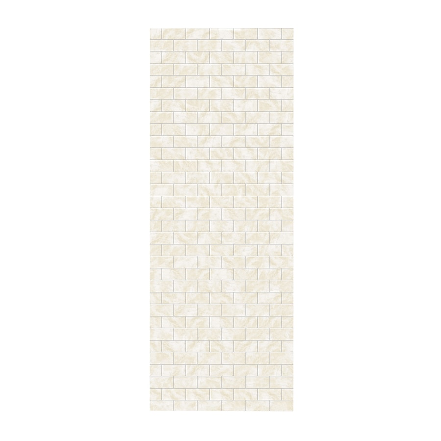 Swanstone Cloud White Shower Wall Surround Side Panel (Common: 0.25-in x 36-in; Actual: 96-in x 0.25-in x 36-in)