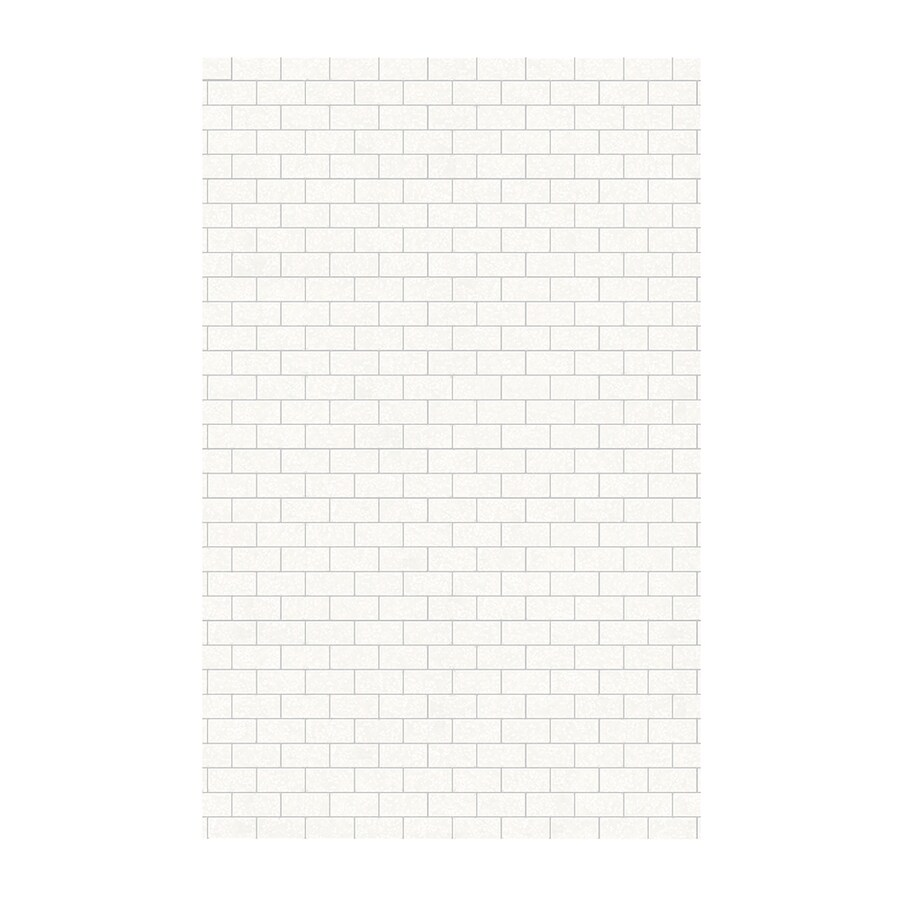 Swanstone Tahiti White Shower Wall Surround Side Wall Panel (Common: 0.25-in x 62-in; Actual: 96-in x 0.2500-in x 62-in)