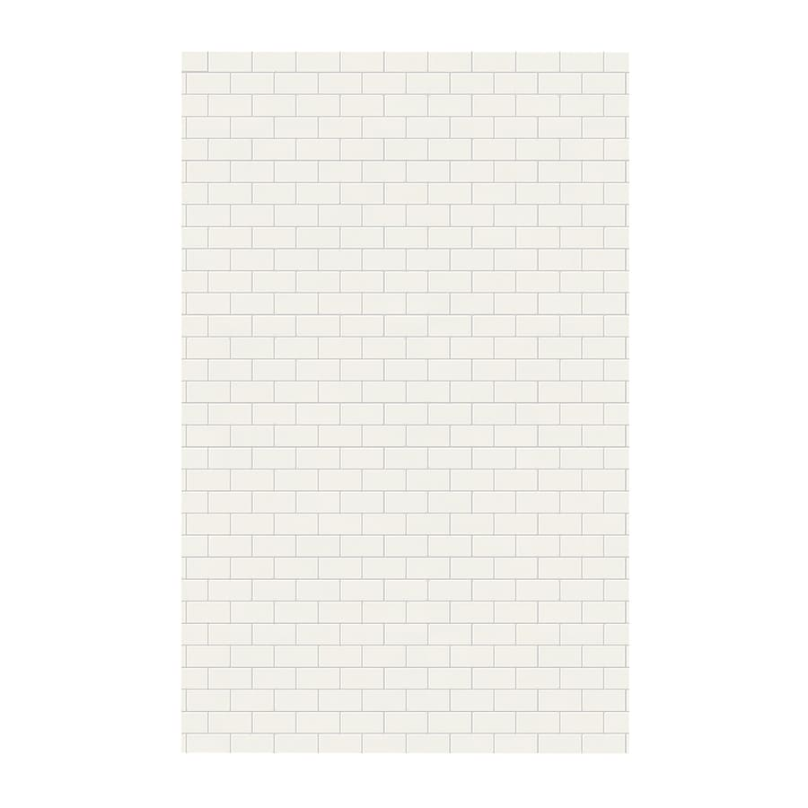Swanstone Bisque Shower Wall Surround Side Wall Panel (Common: 0.25-in x 62-in; Actual: 96-in x 0.25-in x 62-in)