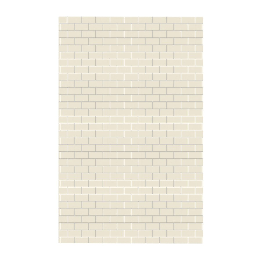 Swanstone Bone Shower Wall Surround Side Wall Panel (Common: 0.25-in x 62-in; Actual: 96-in x 0.25-in x 62-in)