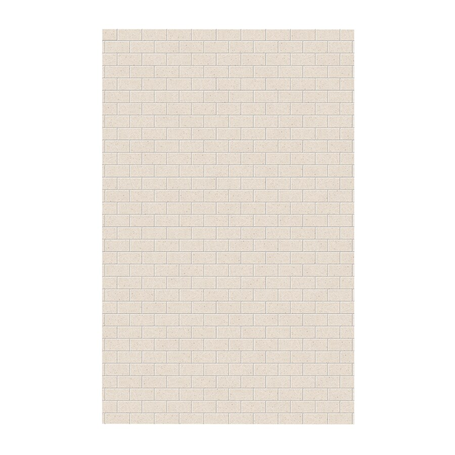 Swanstone Tahiti Sand Shower Wall Surround Side Wall Panel (Common: 0.25-in x 62-in; Actual: 96-in x 0.25-in x 62-in)