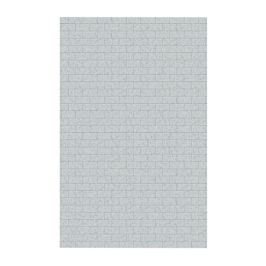 Swanstone Tahiti Gray Shower Wall Surround Side Wall Panel (Common: 0.25-in x 62-in; Actual: 96-in x 0.25-in x 62-in)