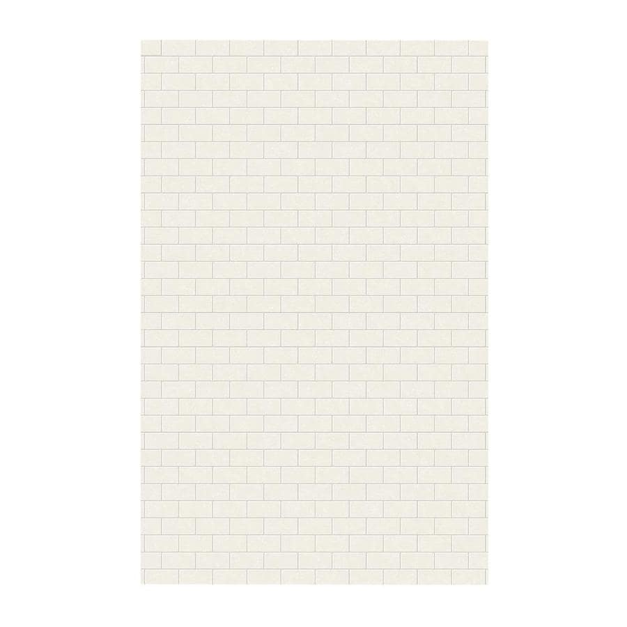 Swanstone Tahiti Ivory Shower Wall Surround Side Wall Panel (Common: 0.25-in x 62-in; Actual: 96-in x 0.25-in x 62-in)