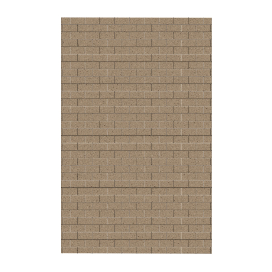 Swanstone Barley Shower Wall Surround Side Wall Panel (Common: 0.25-in x 62-in; Actual: 96-in x 0.25-in x 62-in)