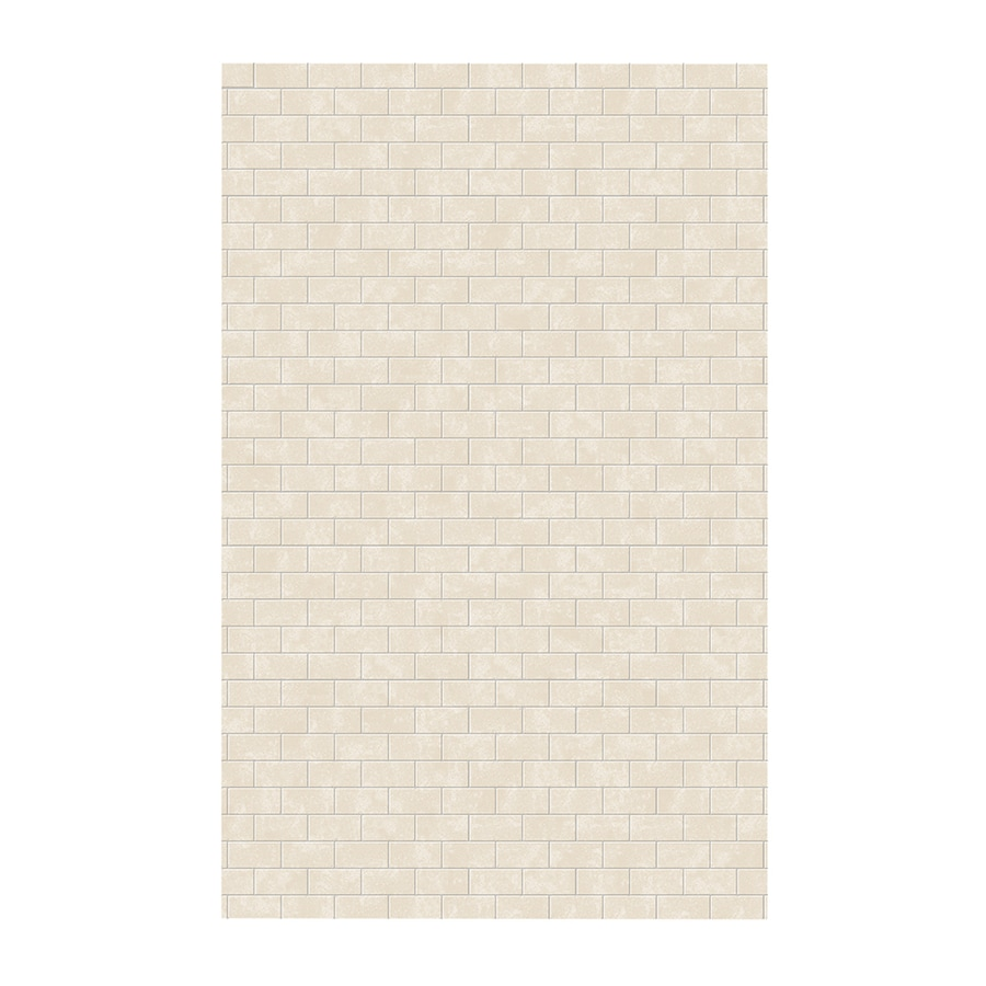Swanstone Cloud Bone Shower Wall Surround Side Wall Panel (Common: 0.25-in x 62-in; Actual: 96-in x 0.25-in x 62-in)