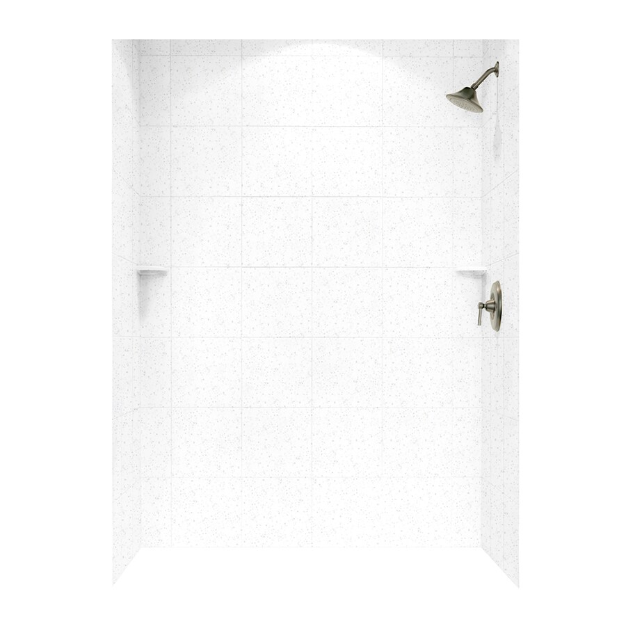 Swanstone Arctic Granite Shower Wall Surround Side and Back Walls (Common: 62-in x 36-in; Actual: 72.5-in x 62-in x 36-in)