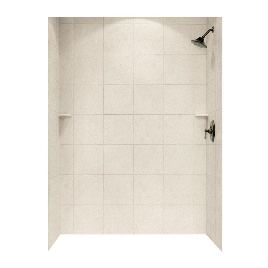 Swanstone Tahiti Sand Shower Wall Surround Side And Back Wall Kit (Common: 62-in x 36-in; Actual: 72.5-in x 62-in x 36-in)