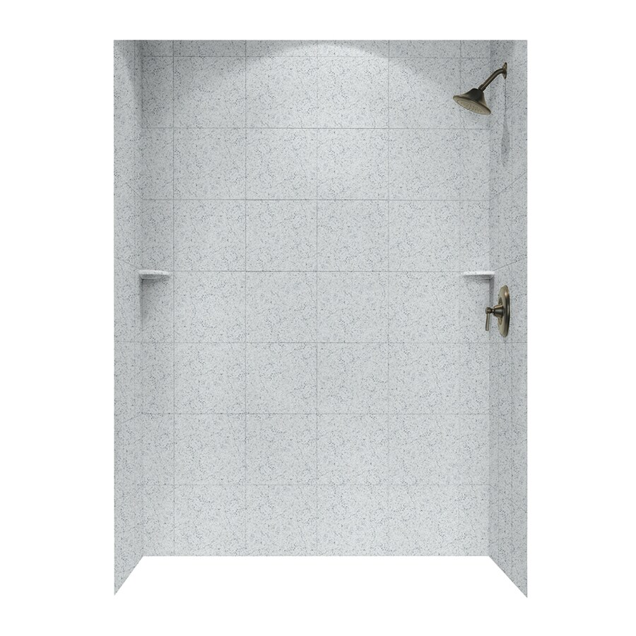 Swanstone Tahiti Gray Shower Wall Surround Side and Back Walls (Common: 62-in x 36-in; Actual: 72.5-in x 62-in x 36-in)