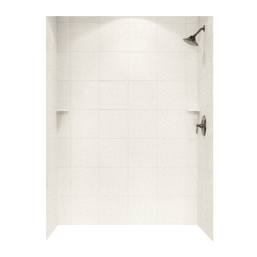 Swanstone Tahiti Matrix Shower Wall Surround Side and Back Wall Kit (Common: 62-in x 36-in; Actual: 72.5-in x 62-in x 36-in)