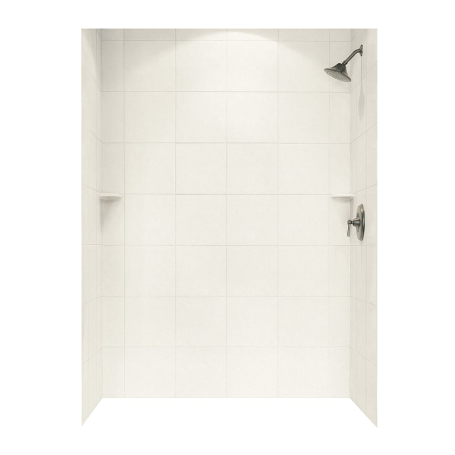 Swanstone Tahiti Ivory Shower Wall Surround Side and Back Wall Kit (Common: 62-in x 36-in; Actual: 72.5-in x 62-in x 36-in)