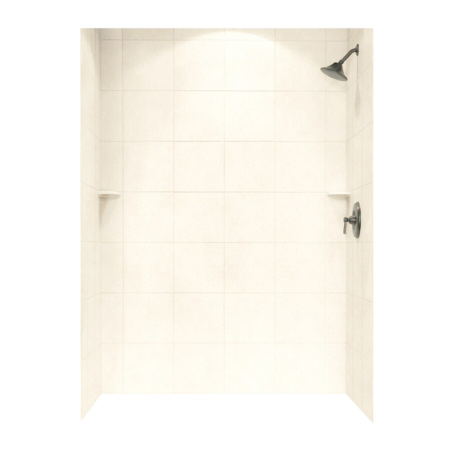 Swanstone Pebble Shower Wall Surround Side And Back Wall Kit (Common: 62-in x 36-in; Actual: 72.5-in x 62-in x 36-in)