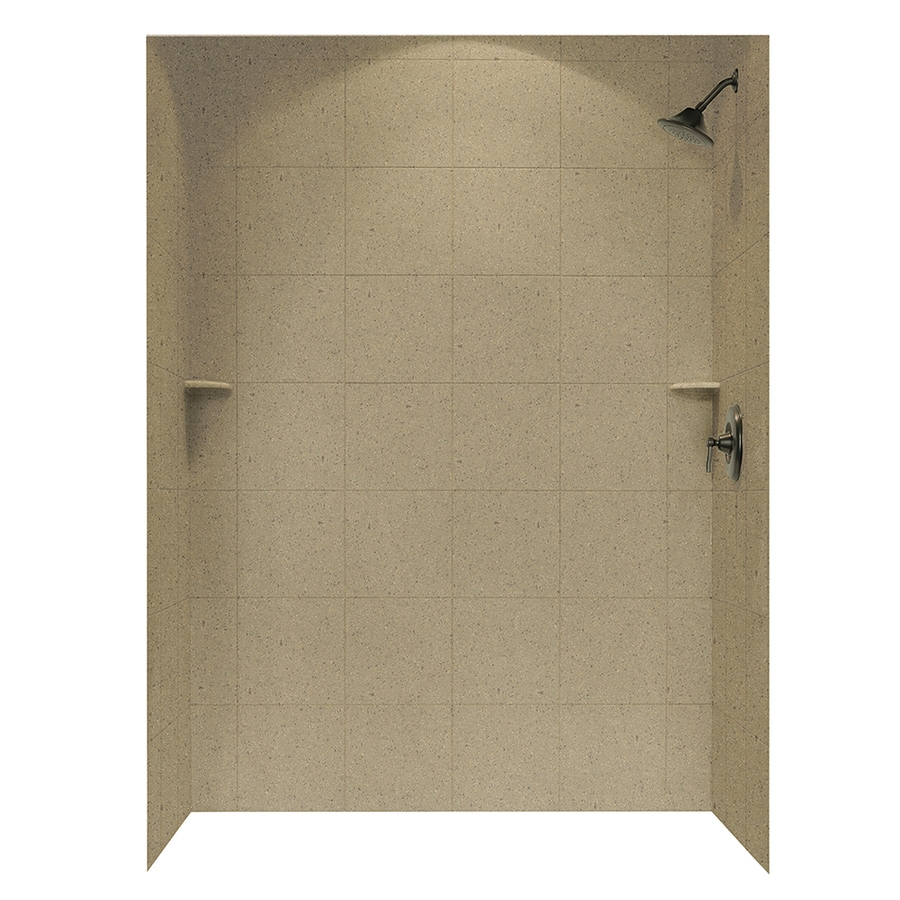 Swanstone Barley Shower Wall Surround Side and Back Walls (Common: 62-in x 36-in; Actual: 72.5-in x 62-in x 36-in)