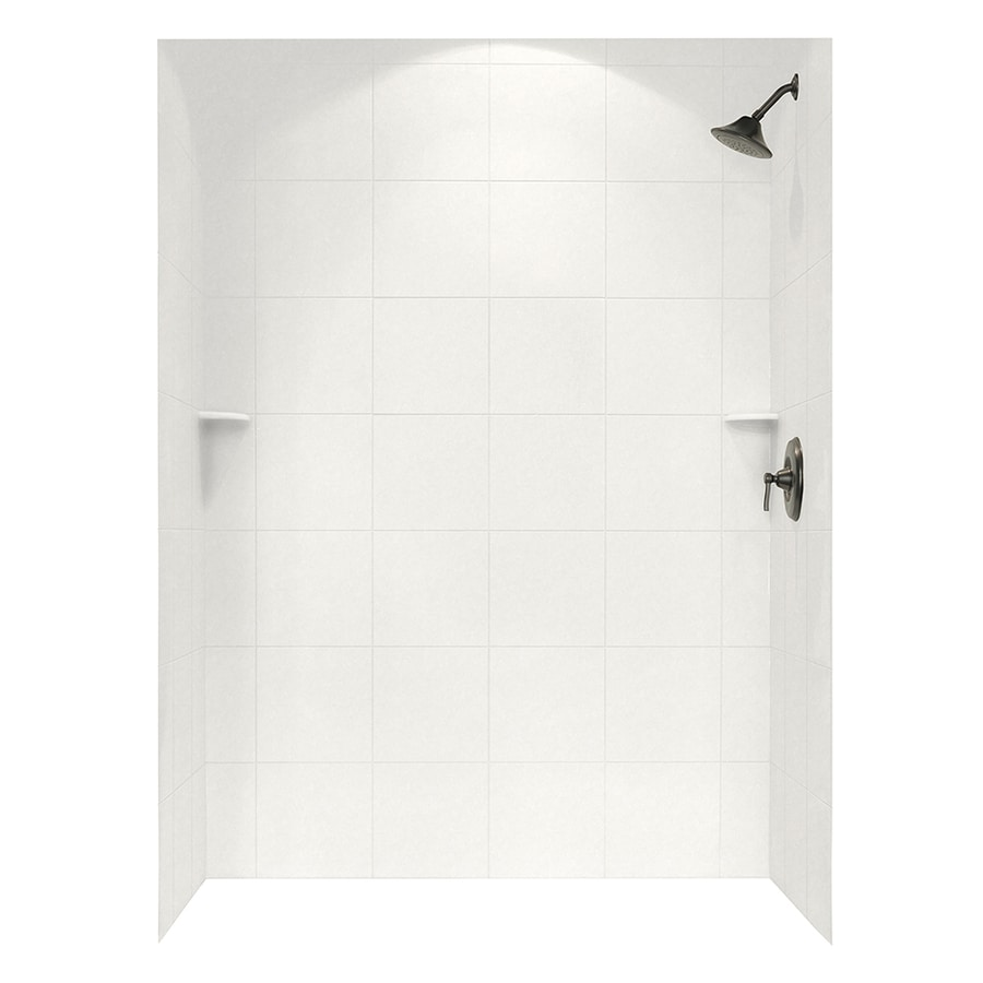 Swanstone Glacier Shower Wall Surround Side and Back Walls (Common: 62-in x 36-in; Actual: 72.5-in x 62-in x 36-in)