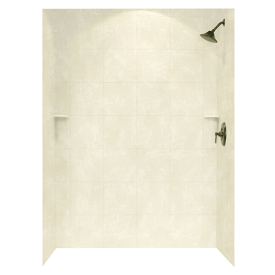 Swanstone Cloud Bone Shower Wall Surround Side and Back Walls (Common: 62-in x 36-in; Actual: 72.5-in x 62-in x 36-in)