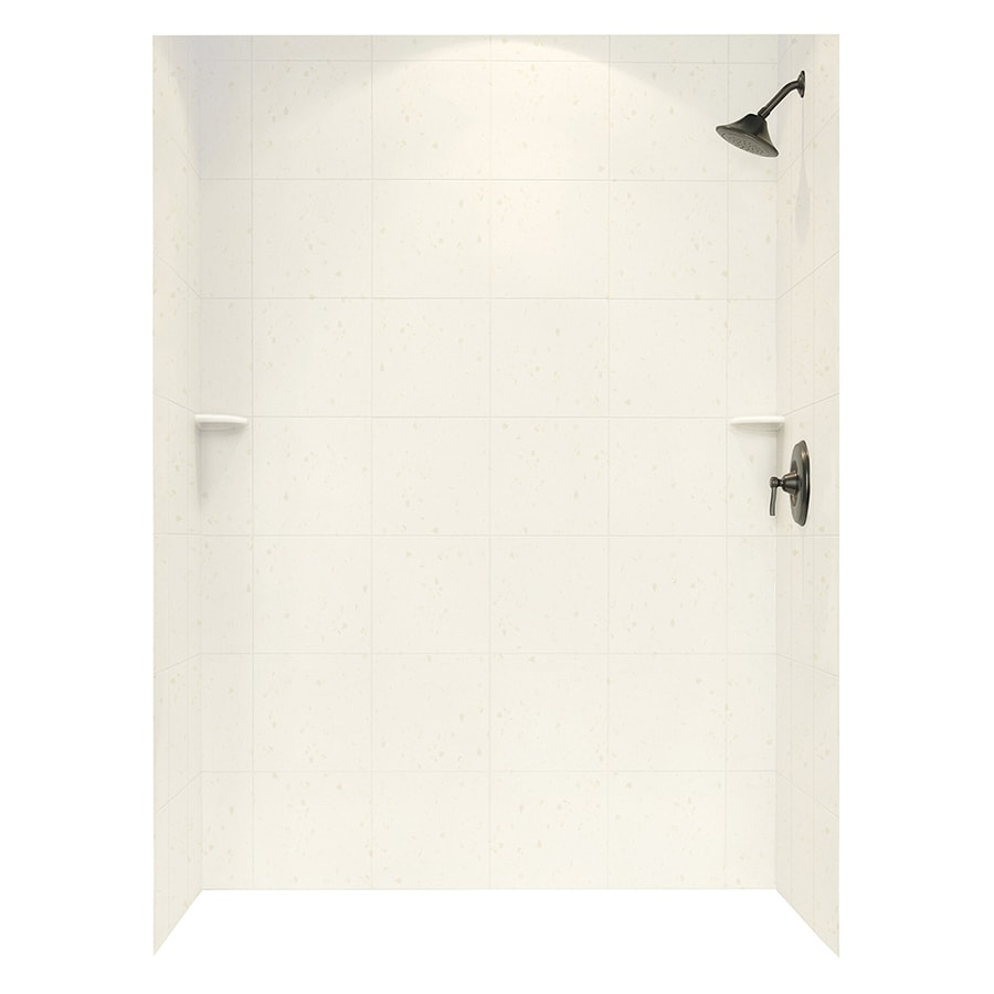 Swanstone Baby's Breath Shower Wall Surround Side And Back Wall Kit (Common: 62-in x 36-in; Actual: 72.5-in x 62-in x 36-in)