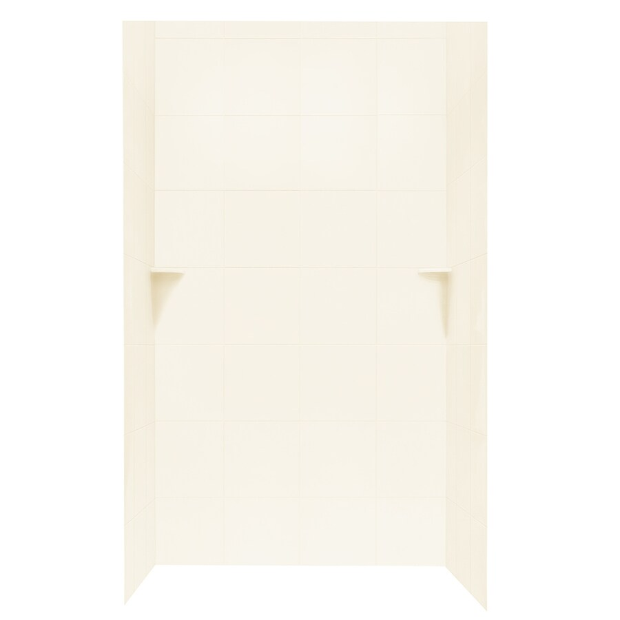 Swanstone White Shower Wall Surround Side And Back Wall Kit (Common: 48-in x 36-in; Actual: 72.5-in x 48-in x 36-in)