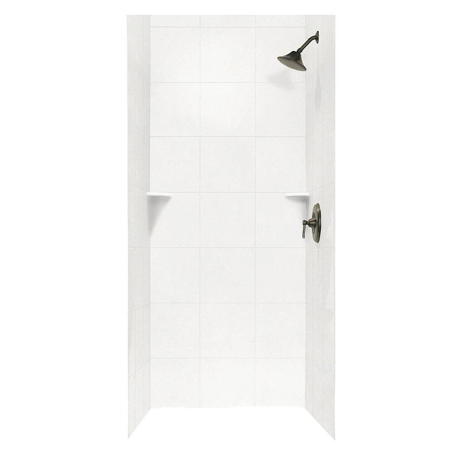 Swanstone Tahiti White Shower Wall Surround Side and Back Wall Kit (Common: 36-in x 36-in; Actual: 72.5-in x 36-in x 36-in)