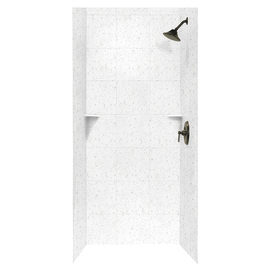 Swanstone Arctic Granite Shower Wall Surround Side and Back Walls (Common: 36-in x 36-in; Actual: 72.5-in x 36-in x 36-in)