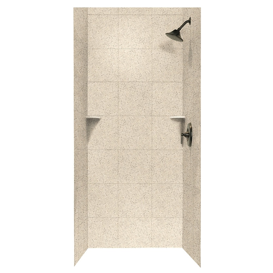 Swanstone Bermuda Sand Shower Wall Surround Side and Back Wall Kit (Common: 36-in x 36-in; Actual: 72.5-in x 36-in x 36-in)